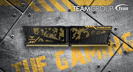 Team Group Announces ASUS TUF Gaming Co-branded T-Force DDR4 Memory