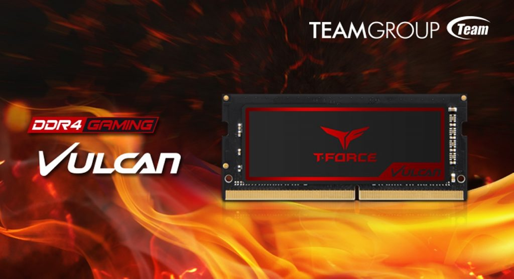 TEAMGROUP Releases Exclusive Memory Module T-FORCE VULCAN for Gaming Laptop