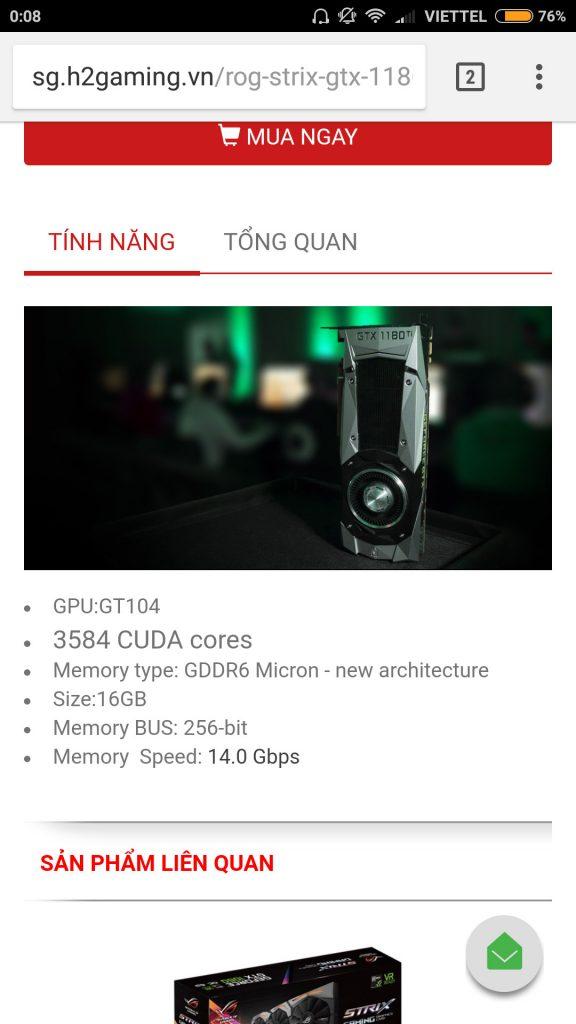 NVIDIA GeForce GTX 1180 Spotted on a Vietnamese Stores