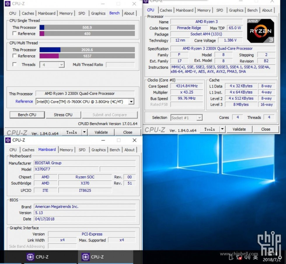 AMD's Ryzen 3 2300X Spotted with Benchmarks