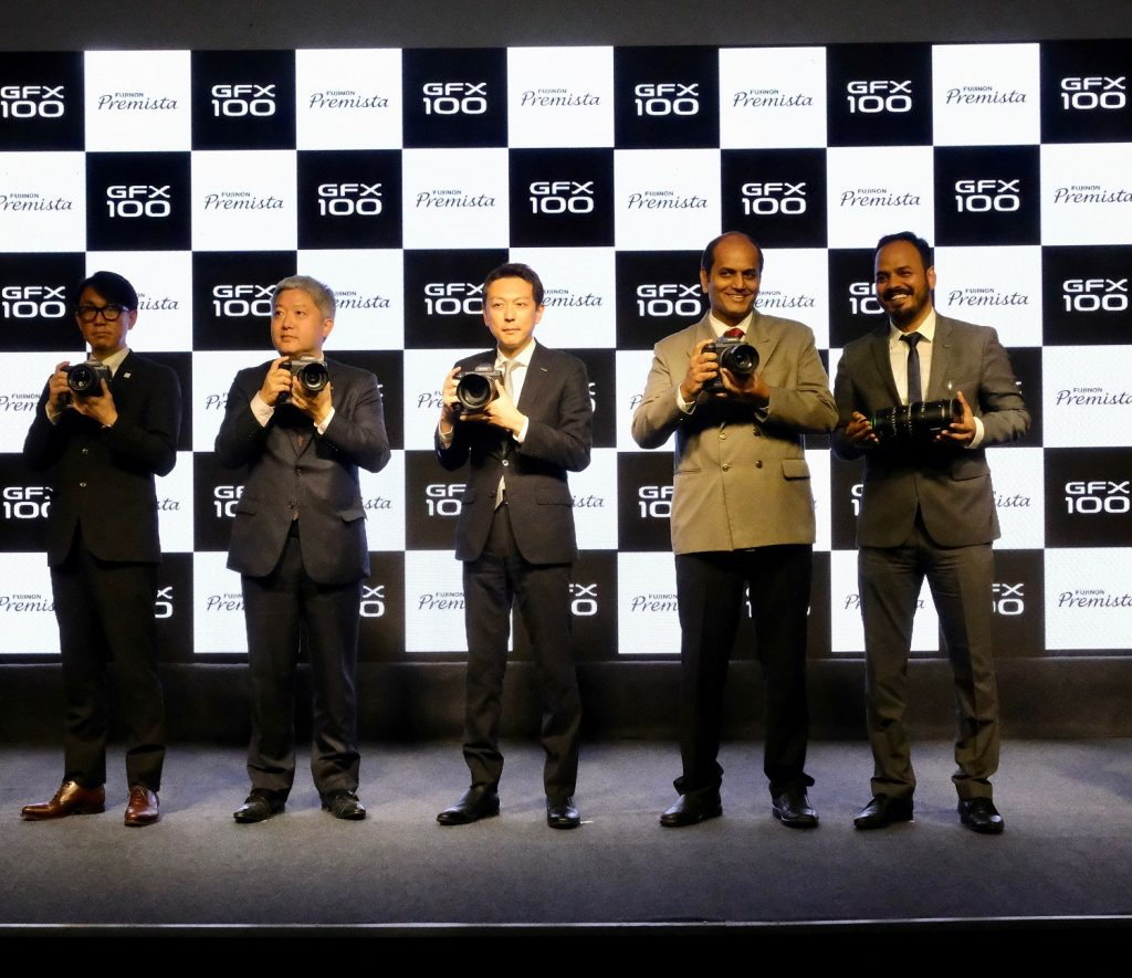 """Fujifilm India unveils its Innovation Marvel GFX100 - World's First mirrorless large format sensor camera with 102 million pixels resolution along with the new """"Premista"""" series of cinema zoom lenses"""