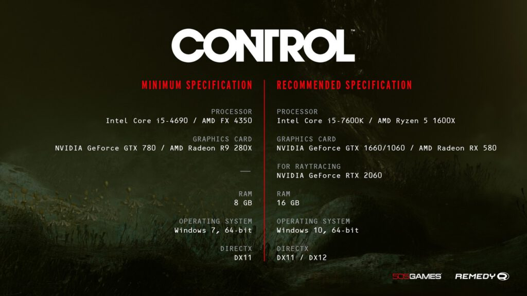 Indie Developers Shine in NVIDIA DXR Spotlight Contest and a New Rec Spec and Screenshots for 'Control'