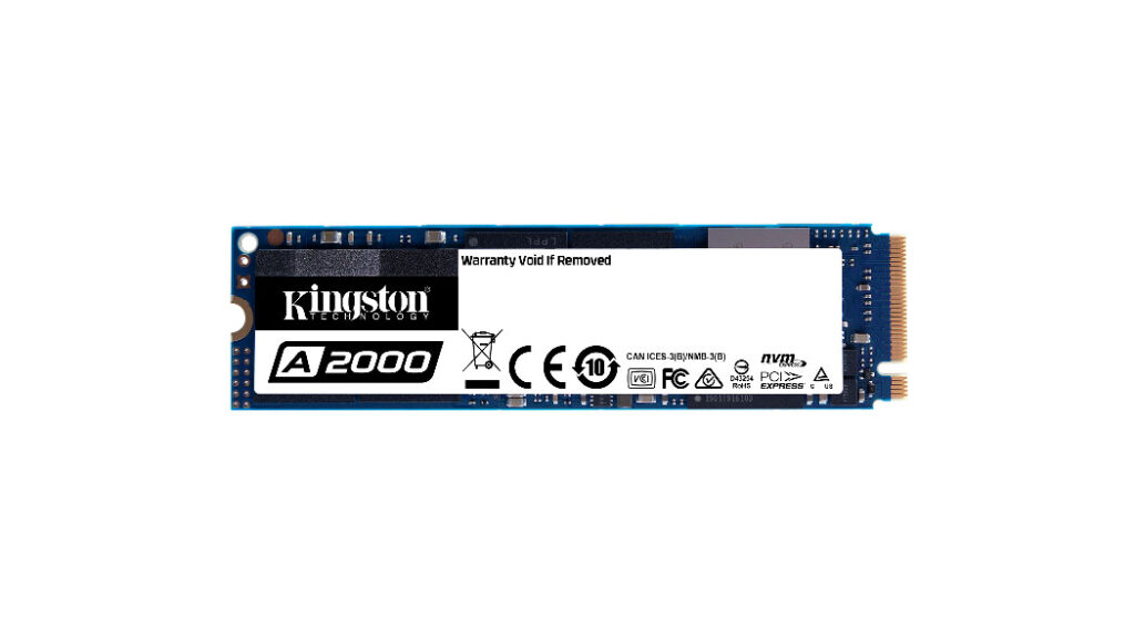 Kingston Launches Next-Gen A2000 Nvme PCI-e SSD In India