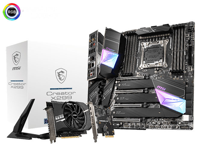 MSI Announces the Creator X299 and X299 Pro 10G Motherboards