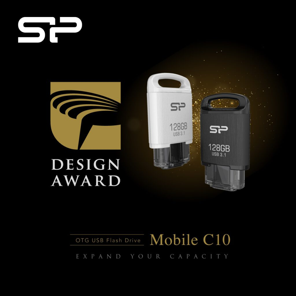 SILICON POWER Mobile C10 Flash Drive Wins Coveted Golden Pin Design Award