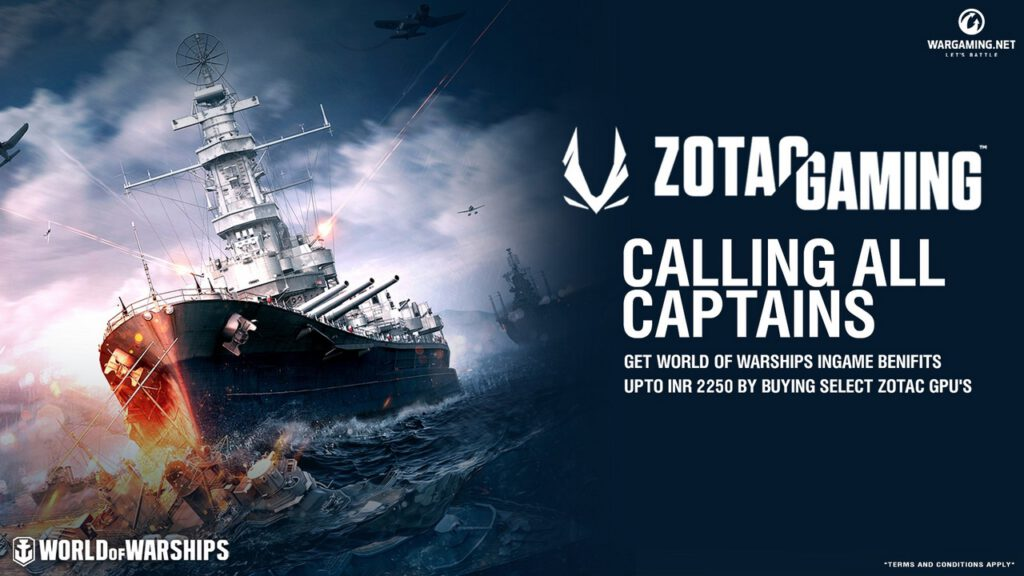 ZOTAC GAMING announces the first-ever World of Warships Bundle for Indian Market