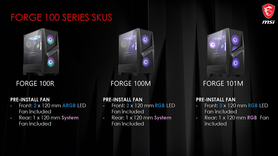 MSI Announces the MAG Forge 100 Series Cases