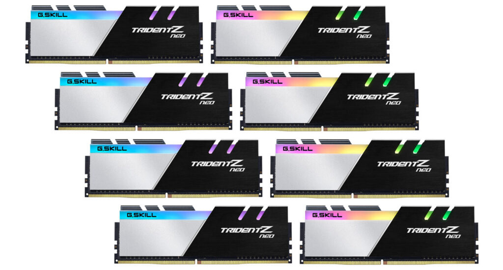 G.SKILL Announces High-Performance, Trident Z Neo DDR4-3600 C16 256GB (32GBx8) Memory Kit