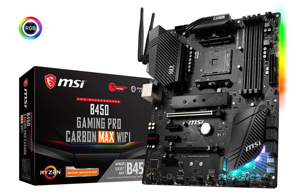 MSI Expands its B450 MAX Series with Gaming Pro Carbon MAX WiFi and Bazooka MAX WiFi