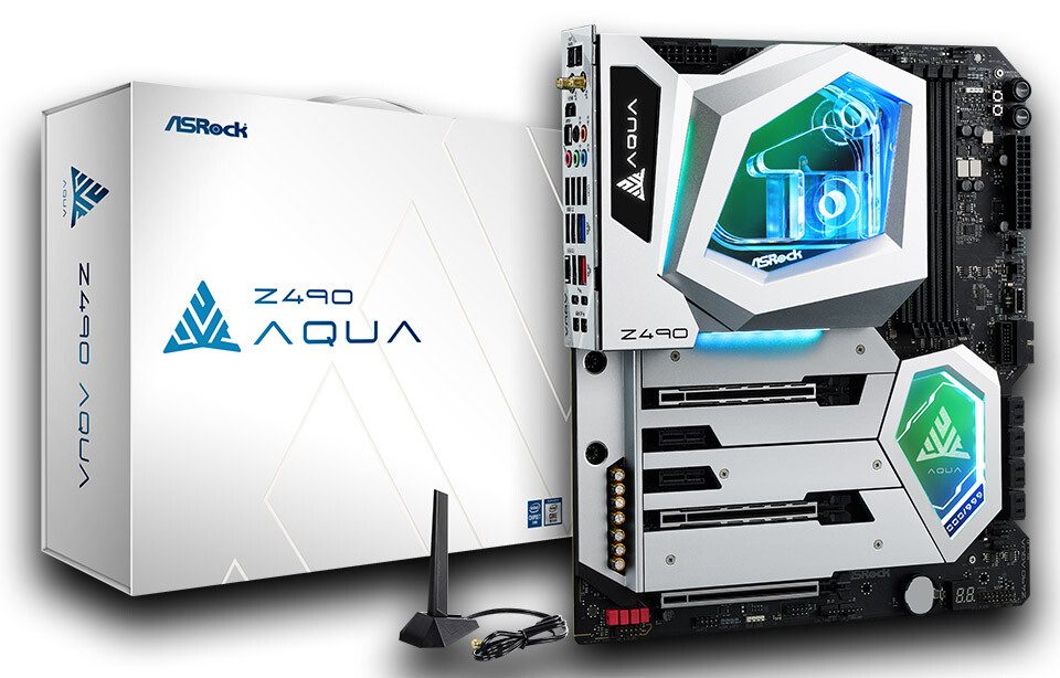 ASRock Launches Z490 AQUA Flagship Motherboard Ready for Liquid Cooling