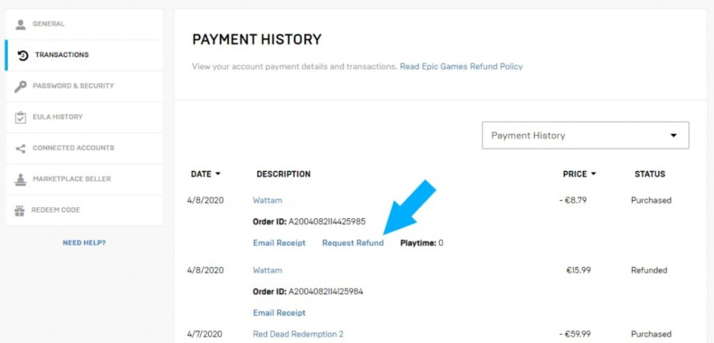 Epic Games Store Finally Enabled Automatic Refunds