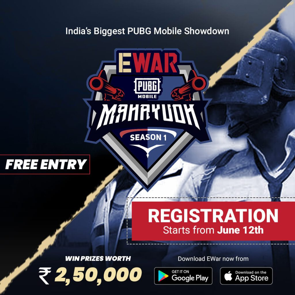 "Gaming Start-up EWar Unveils Season 1 of Mega PUBG Mobile Tournament ""EWar PUBG Mahayudh"""
