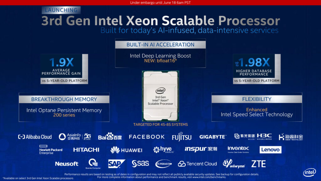 """Intel Announces """"Copper Lake"""" 4P-8P Xeons, New Optane Memory, PCIe 4.0 SSDs, and FPGAs for AI"""