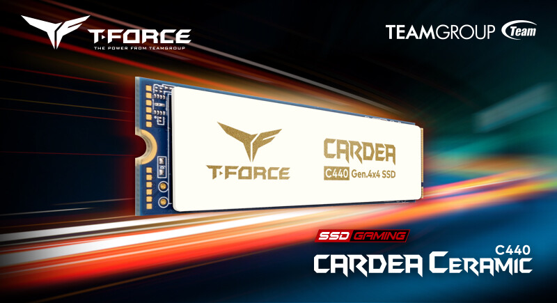 TEAMGROUP Announces T-FORCE CARDEA Ceramic C440 M.2 PCIe 4.0 SSD