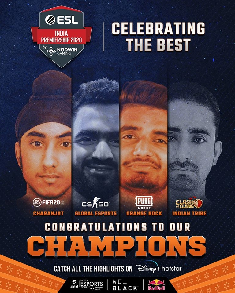 Summer Season of ESL India Premiership comes to a grand closure; NODWIN Gaming announces the winners