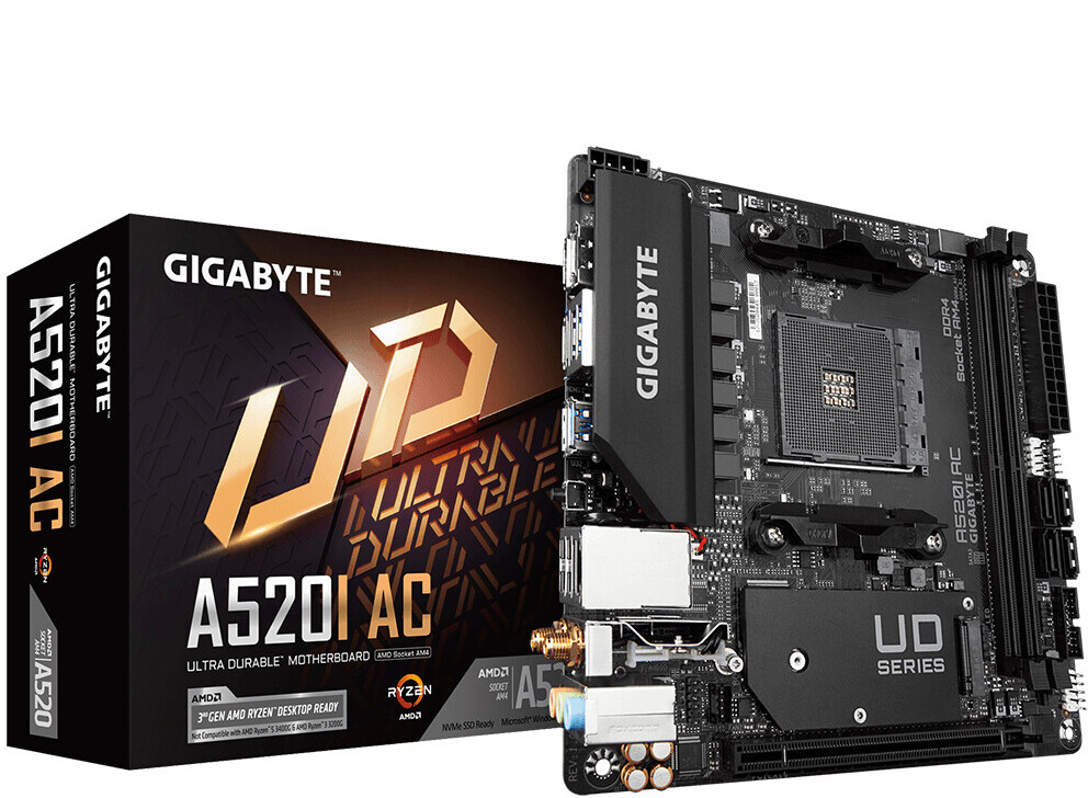GIGABYTE Launches AMD A520 Chipset Motherboards