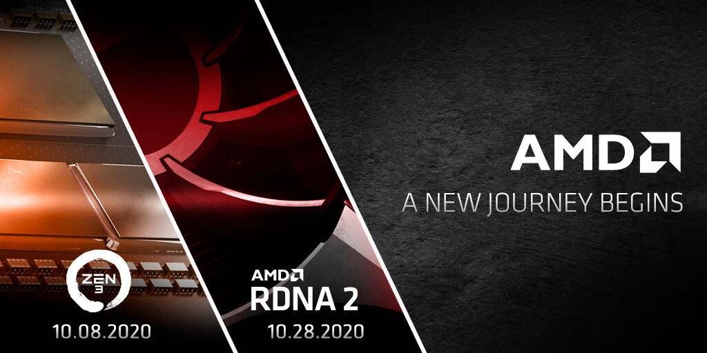 AMD Announces a Red October: Zen 3 on October 8, RDNA2 on October 28