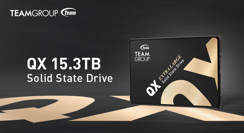 "TEAM GROUP Launches QX, the First and Largest Consumer-Grade, 15.3TB 2.5"" SATA SSD"