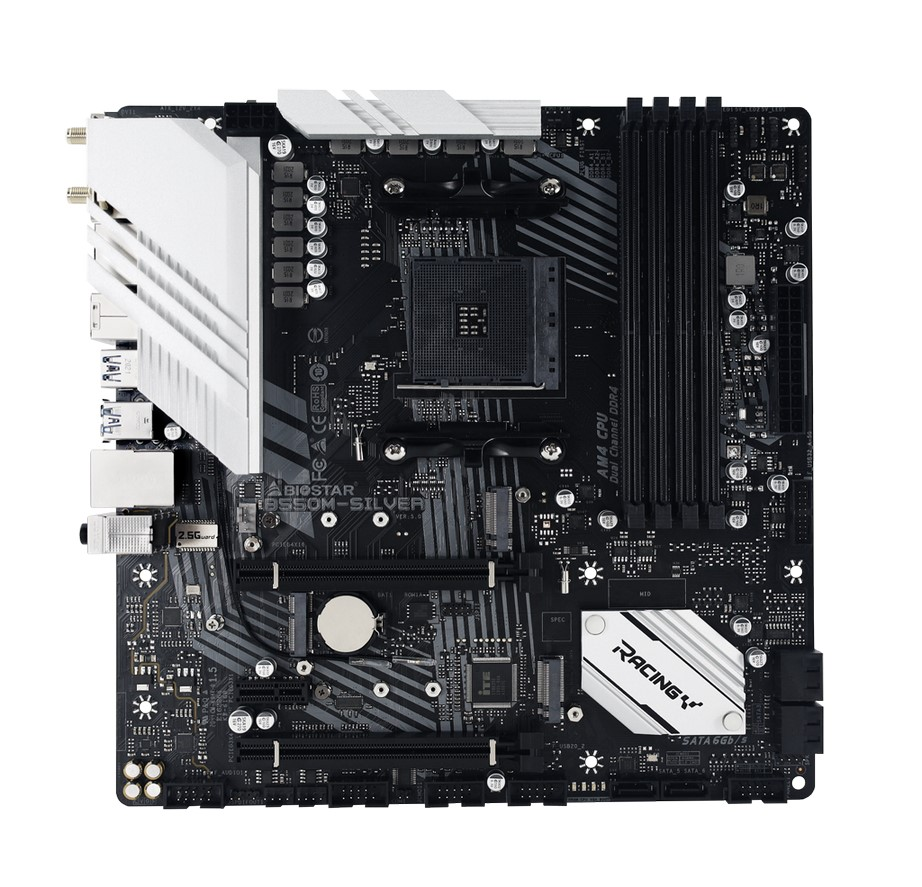 BIOSTAR ANNOUNCES THE NEW B550M-SILVER MOTHERBOARD