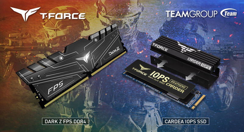 Team Group Launches DARK Z FPS Gaming Memory and Cardea IOPS Gaming PCIe SSD
